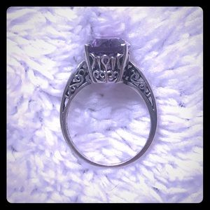 Used, Kabana Amethyst Sterling Silver Ring for sale